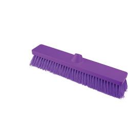 Flacher Kehrbesen , violett