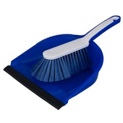 """Hygiene Kehrgarnitur """"Profi"""",mit farbiger Schaufel blau"""