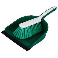 """Hygiene Kehrgarnitur """"Profi"""",mit farbiger Schaufel grün"""