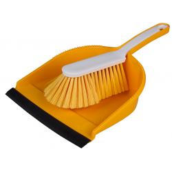 """Hygiene Kehrgarnitur """"Profi"""",mit farbiger Schaufel gelb"""