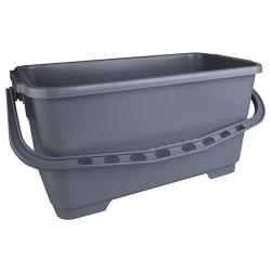 Eimer mit Einhängehaken, 22 Liter, grau